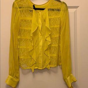 Bcbg max Azria yellow silk top